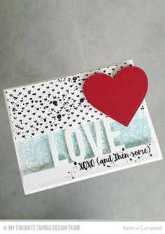 Love You More, Mini Hearts Background, Love Die-namics, Stitched Heart STAX Die-namics - Keisha Campbell  #mftstamps
