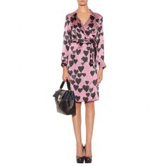 Lanvin - SILK WRAP DRESS WITH HEARTS