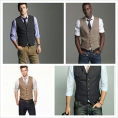 Jeans and vest for groomsmen.