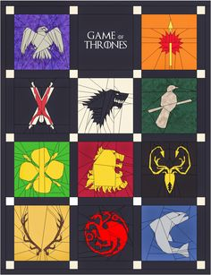 Game of Thrones quilt - Patterns from Jessica Blacknall. To do once I find some more time... ;)
