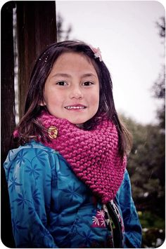 Hand Knit Child's Cowl
