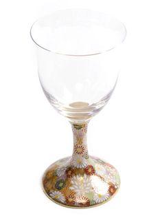 wine glass 九谷和ワイングラス 金花詰