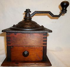 Antique Franco American Logan & Strobridge Box Coffee Mill Grinder XLNT .99 CENT