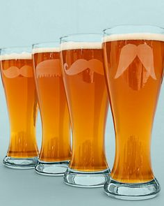 Mustache Pilsner Glasses!  Can make this myself! :)