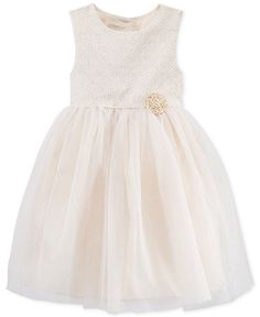 cce85c1df53 Marmellata Little Girls  Metallic Floral-Print Dress Kids - Dresses - Macy s