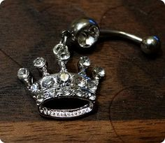 Crown Belly Button Ring <3