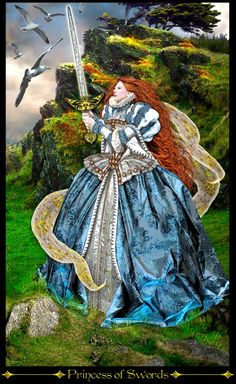Princess of Swords - Tarot Illuminati