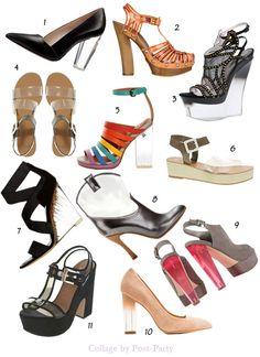 Esta temporada los diseñadores introducen el metacrilato, las transparencias en PVC  a todo color para animar nuestros looks primaverales, zapatos muy originales con aire futurista que harán las delicias de las adictas, a todo tipo de zapatos.