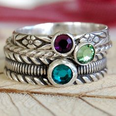 sterling silver stack rings  (so many nice pieces in this shop)