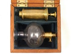 Victorian Breast Pump in Mahogany Box, 1880. This just looks like a torture contraption. lol