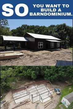 Interested in building a barndominium on a budget? Confused about where to start? This is the definitive guide to building a barndominium in Texas or anywhere else! Barn Style House Plans, Barn Homes Floor Plans, Metal House Plans, Pole Barn House Plans, Pole Barn Homes, Barn Plans, New House Plans, Dream House Plans, House Floor Plans