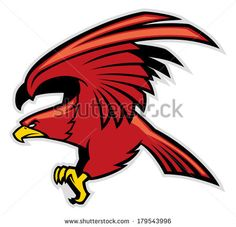 eagle mascot - stock vector