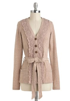 Antique Arcade Cardigan - Solid, Casual, Spring, Summer, Fall, Trim, Long Sleeve, Mid-length, Top Rated
