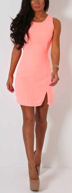 Pink Boutique Carmelita peach open back #mini #dress http://www.pinkboutique.co.uk/new-in/carmelita-peach-open-back-mini-dress.html #pinkboutique