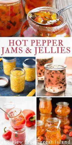 Pepper Jelly Recipes, Hot Pepper Jelly, Jalapeno Recipes, Habenero Pepper Jelly Recipe, Bacon Recipes, Mango Habanero Jelly Recipe, Hot Jelly Recipe, Kitchens, Gastronomia