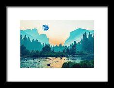 River Runs Through Valley By Adam Asar - Framed Print