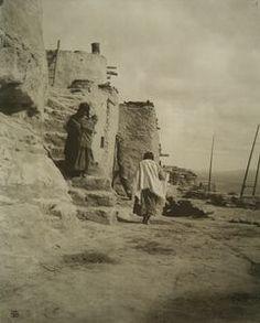 The kivas of Walpi, Hopi. 1907 Karl Moon