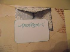 Hand stamped  Post Cards With Shabby Chic Style  by ShoppeLaFluer, $6.00