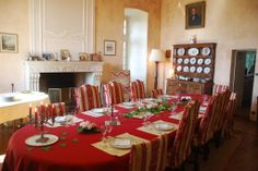 Enjoy breakfast and the candlelight dinner in the dining room