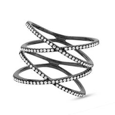 Add sparkle to your style with this unique diamond ring which has an approximate weight of ctw. Black Rhodium, Going Out, Valentines, Jewels, Diamond, Lady, Rings, Gold, How To Wear
