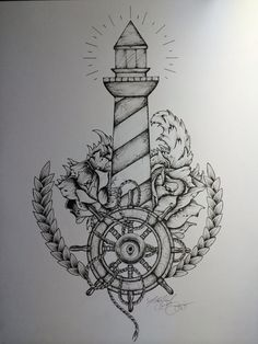 "Lighthouse Tattoo - ""And when the ships come in... I'm here"""