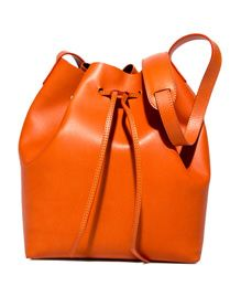 SCHONEBERG: BREMA MAXI BUCKET BAG COLOR ORANGE | Playground Shop