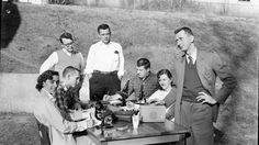 #TBT 1957 Embryology class, with Dr. Mahan, decides to have lab outside. https://flic.kr/p/rWxmRJ
