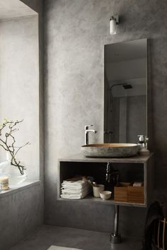 COCOON contemporary bathroom inspiration bycocoon.com | grey | modern inox…