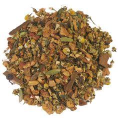 CHAI | Gearomatiseerde mix van kruiden, vruchtjes en specerijen. De typische, kruidige Chai-aroma wordt in deze heerlijke melange aangevuld met een zoete appel. Heerlijk op een koude, winterse dag. Stilt bovendien de honger, dus een hele fijne keus wanneer je aan het diëten bent. |