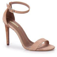 Sandália Salto Feminina Brenda Lee - Nude