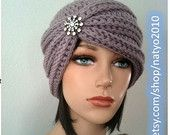 INSTANT DOWNLOAD Turban Style - Rhinestone Beanie - Crochet Pattern