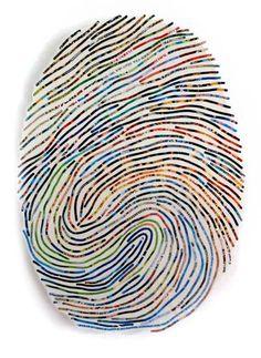 Beautiful custom thumbprint artwork by Cheryl Sorg. http://www.cherylsorg.com/about_me.html