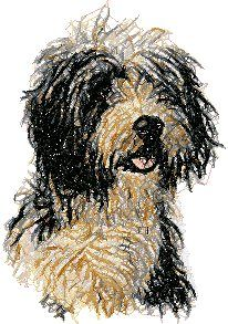 Advanced Embroidery Designs - Bearded Collie