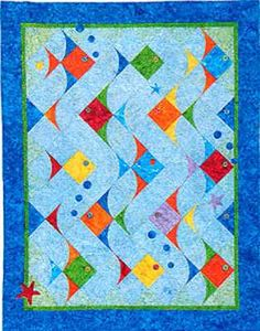 super cute fish lap quilt