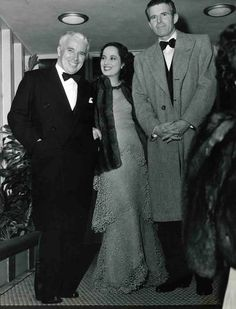 Charles Chaplin, Merle Obergon And Tim Durante At Ciro's Nightclub in Hollywood