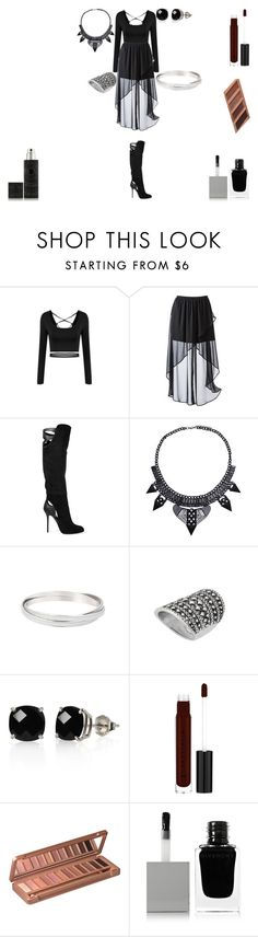 """""""Back to Black"""" by rascaldiva ❤ liked on Polyvore featuring Xhilaration, Sergio Rossi, Belk & Co., Anastasia Beverly Hills, Urban Decay, Givenchy and Kilian"""