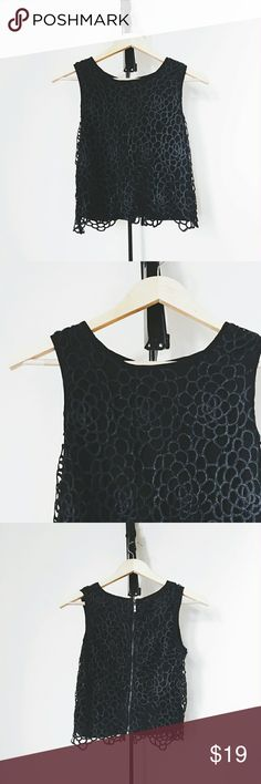 Caged Dainty Flower Top Unworn, no wear/tear/stains. Goes about an inch below the belly button Bloomingdale's Tops Crop Tops