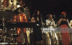 American singer and musician Sly Stone of the funk band 'Sly and the Family Stone' performing at the Schaefer Music Festival on August 1 1973 in New...