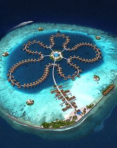 The Ocean Flower Hotel, Maldives - Travel Photo Vacation Places, Dream Vacations, Vacation Spots, Places To Travel, Travel Destinations, Places To Visit, Visit Maldives, Maldives Travel, Maldives Beach