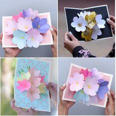 Wihh Ini Nih Cara Mudah Bikin Pop Up Card Bunga Cantik!