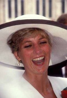Princess Diana, having a real good laugh...so nice to see this . - 1991