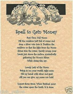 Spell to Gain Money
