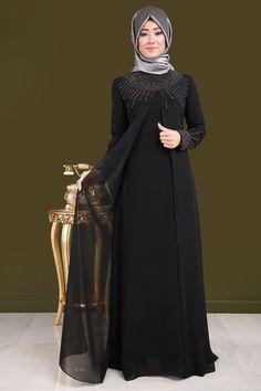 ** SONBAHAR / KIŞ ** Yelek Görünümlü Şifon Abiye Siyah Ürün Kodu: RZ6103 --> 129.90 TL ,  #abiye #gorunumlu #KIŞ #Kodu #rz6103 #Şifon #Siyah #SONBAHAR #TL #Ürün #yelek Abaya Fashion, Muslim Fashion, Fashion Dresses, Girl Fashion, Hijab Style Dress, Modele Hijab, Abaya Designs, Beautiful Hijab, Types Of Dresses