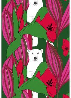 "Textile -- Marimekko -- designed by Teresa Moorhouse: ""Nanuk-kangas"""