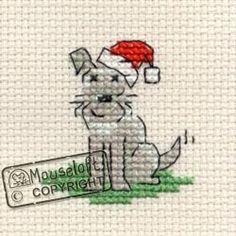 Cross Stitch Embroidery Stitchlets Christmas Card Cross Stitch Kit - Little Dog's Christmas - Cross Stitch Christmas Ornaments, Xmas Cross Stitch, Cross Stitch Cards, Cross Stitch Animals, Counted Cross Stitch Patterns, Cross Stitch Designs, Cross Stitching, Cross Stitch Embroidery, Hand Embroidery