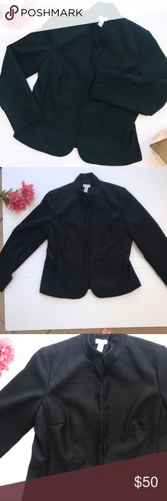 """Chico's Black Jacket Chico's NWT jacket. Has shoulder pads. Kind of a medium weight. Looks super nice on. Pit to pit (bust) 21"""". Length 23.5"""". ::C Chico's Jackets & Coats Blazers"""
