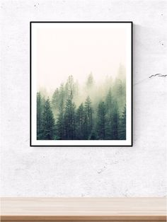 Forest print forest forest prints tree print by OhLovelyPrintables