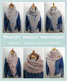 Nieuw patroon: Wendy's warme wintersjaal