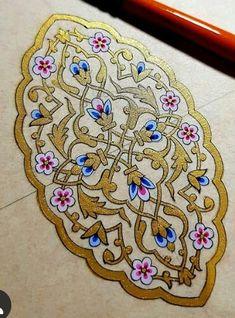 Islamic Art Pattern, Pattern Art, Turkish Art, Islamic Art Calligraphy, Mandala, Miniatures, Hand Painted, Lace, Painting
