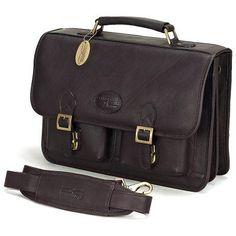 ClaireChase New Business Briefcase - Cafe - 156E-CAFE-MONOGRAM, Durable